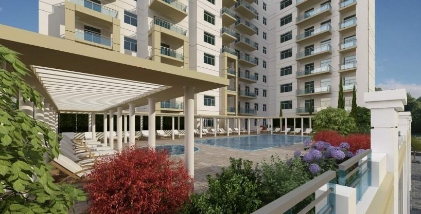 غرفتي نوم في شقة (مطلة على حمام سباحة) بمساحة 122 م2، في فريشيا من عزيزي للتطوير العقاري