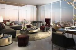 غرفة نوم في شقة فندقية بمساحة  62 م2، في أيكون سيتي من داماك العقارية