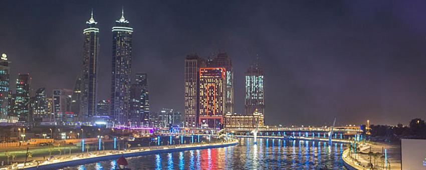 عقارات على قناة دبي المائية