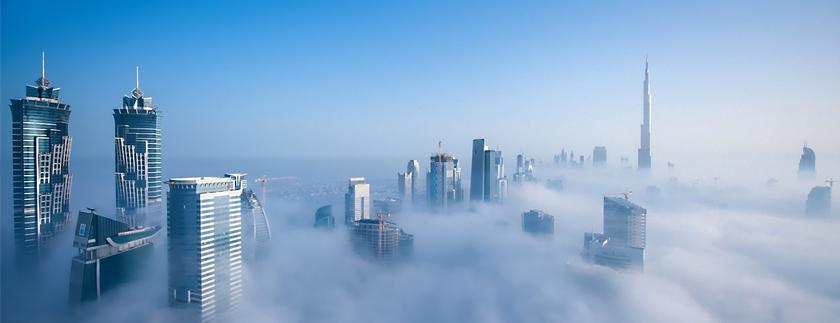 صورة ناطحات السحاب في دبي