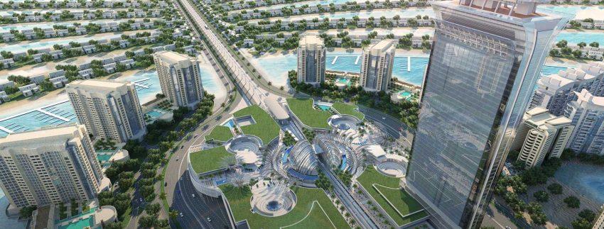 صورة من مشروع ذا بالم تاور من شركة نخيل العقارية في دبي الإمارات